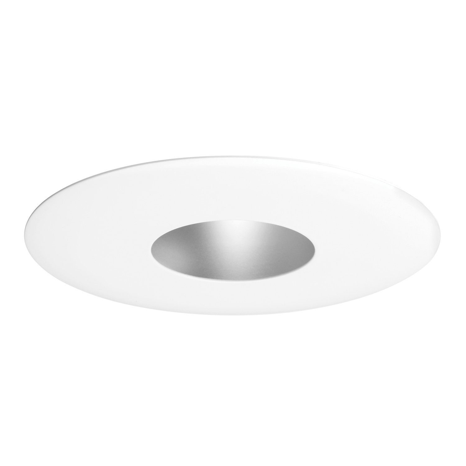 Juno Lighting 13-WH 4-Inch Pinhole Trim with Integral Shield, White
