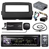 Audio Bundle For 2014 and Up Harley - Pioneer DEH-X6800BT CD MP3 AUX Marine Bluetooth Receiver Combo W/ Dash Install Kit, Handle Bar Controller for Motorcycle, SiriusXM Tuner, Enrock 22