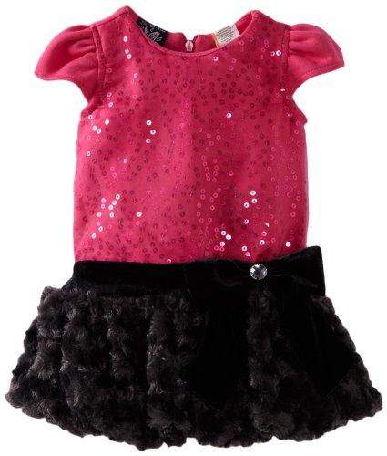 So La Vita Baby Girls' Flocked Taffeta Dress