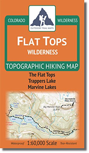 Flat Tops Wilderness - Colorado Topographic Hiking Map (2018)