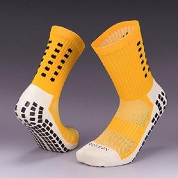 Tocksox Yellow Calcetines de Fútbol, Antideslizantes, Estilo Trusox, Alta Calidad, Baloncesto,