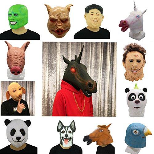 Latex Animal Head Mask Cosplay Celebrity Helmet Halloween Costume Party Fancy Dress (Hog) for $<!--$13.50-->