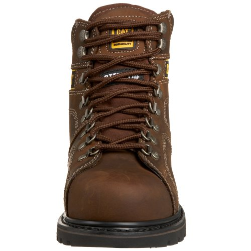 Caterpillar Mens Silverton 6 Steel Lace-To-Toe Work Boot Dark Brown X50ApmMj
