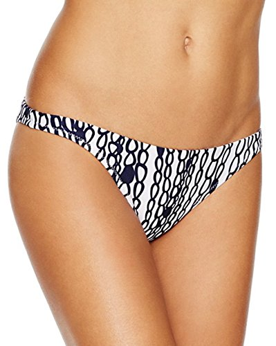 Milly Cabana - Milly Cabana Womens Printed Hipster Swim Bottom Separates Navy S