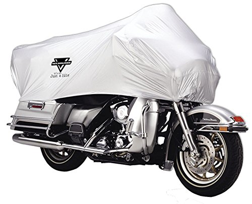 Motorcycle Half Cover, All-Weather, 100% Waterproof, Taped Seams, UV, Free Stuff Sack, X-Large Fits most Touring and Adventure motorcycles like Harley Davidson Ultra, Honda Goldwing and BMW R1200GS (Honda Motorcycle Seat Covers)