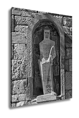 Ashley Canvas Saint George By Picasso Montserrat Monastery Spain, Wall Art Home Decor, Ready to Hang, Black/White, 20x16, AG6289777 by Ashley Canvas