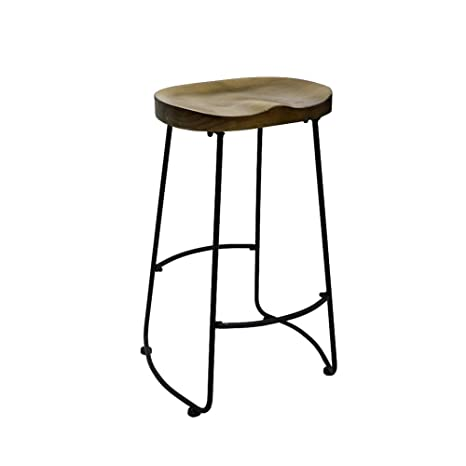Amazoncom Rx 789 Metal Wood Counter Stools Bar Round Seat Chair