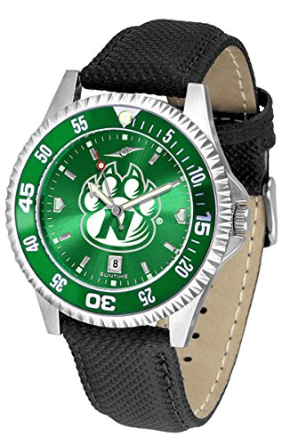 Northwest Missouri State Bearcats Competitor AnoChrome Men's Watch with Nylon/Leather Band and Colored (Bearcats Mens Leather)