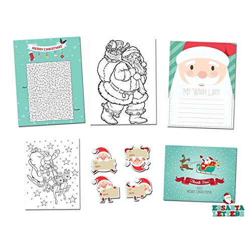 Magic Gift Bundle - Wish List, Santa's Maze, Greeting Card & Coloring Page -