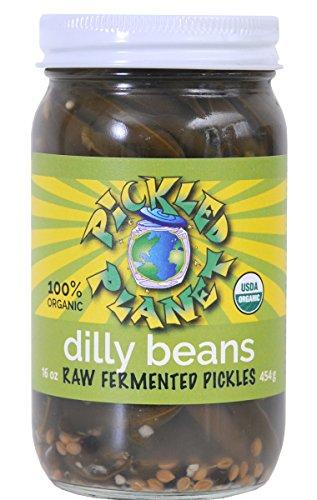 Raw Pickles, Dilly Beans, 16 Oz Glass Jar