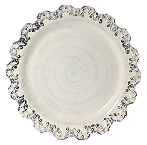 Intrada BAR7459C Baroque Charger Plate, Cream