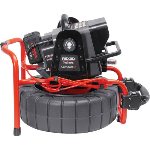 RIDGID 48103 SeeSnake Compact2 System with Self-Leveling Pipe Inspection Camera and Sonde (Transmitter) for Pipe Location (Battery Sold Separately) by Ridgid