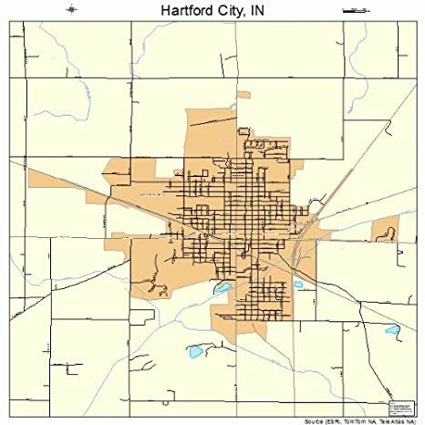 Amazon.com: Large Street & Road Map of Hartford City ...