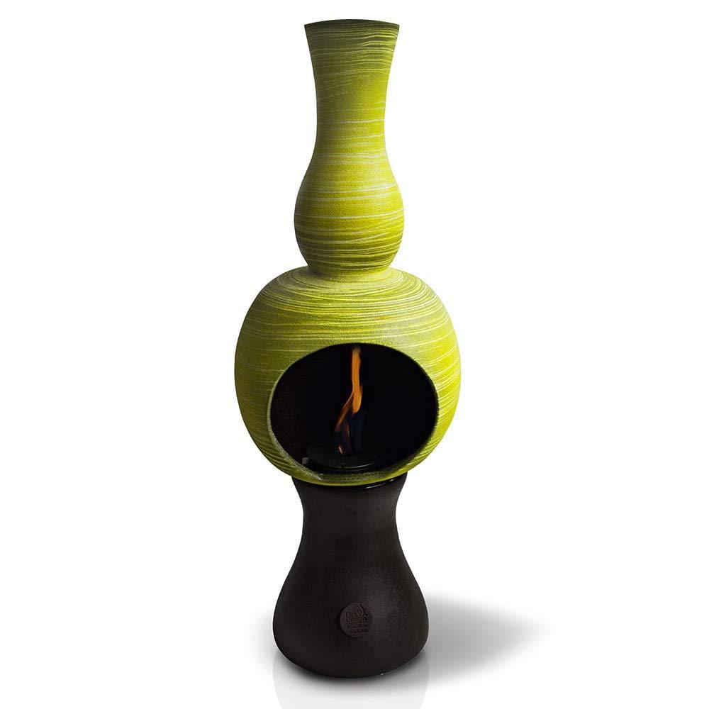 ferazzoli Chimenea Bioetanol de Suelo de Cerámica 32 x 95 cm Onda Verde Millerighe: Amazon.es: Hogar