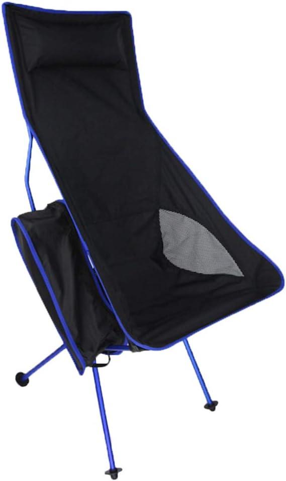 K-Y Ocio Silla Plegable Al Aire Libre Portátil Silla De Luna Ultra Ligero Silla De Pesca De Aluminio: Amazon.es: Hogar