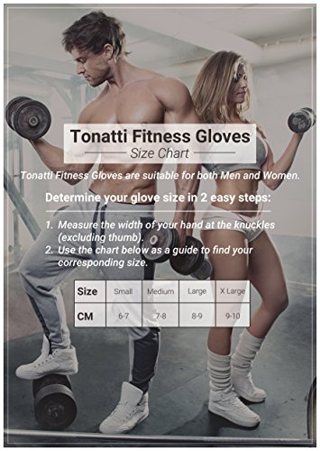 Weight Lifting Fingerless Weight Training Exercise Fitness Weightlifting Gym Crossfit Cycling Biking Padded Palm Protection with Padding Tonatti – DiZiSports Store