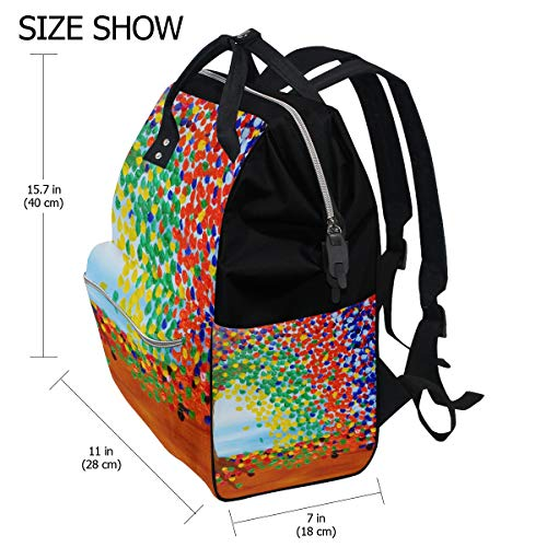 Women Muti Mummy for Travel Backpack Art Bag Multi7 Function Sunflower Capacity Retro Large Bag Canvas xwTYqO7A