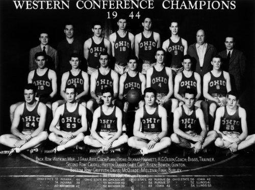 Team Photo Mint - Ohio State Buckeyes 1944 Basketball 8x10 Team Photo - Mint Condition