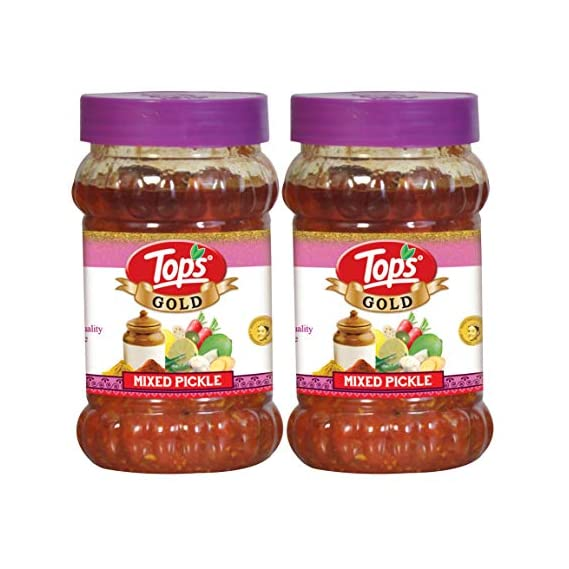 Tops Gold Mixed Pickle 375gm Jar, Pack of 2