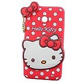 Lumia 635 Silicone Case,Lumia 635 Cartoon Case,Lumia 635 Gel Cover,MODEFAN 3D Animal Series Hello Kitty Silicon Gel Rubber Case Cover Skin for Nokia Lumia 635 (Red Polka Dots Hello Kitty)