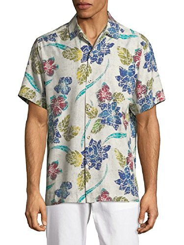 Tommy Bahama Island Zone Batiki Bay Silk Camp Shirt (Color: Continental, Size XXL)