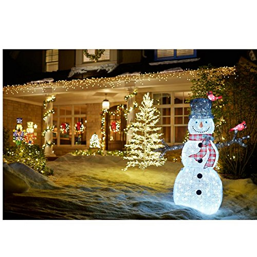 Home Accents Holiday 72 in. LED Tinsel Nutcracker and 5 ft. Pre-Lit Tinsel Nutcracker Soldier by Home Accents Holiday (Image #6)