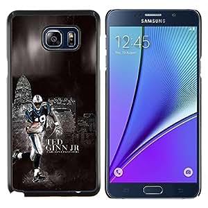 Qstar Arte & diseño plástico duro Fundas Cover Cubre Hard Case Cover para Samsung Galaxy Note 5 5th N9200 (Fútbol 19 Ginn)