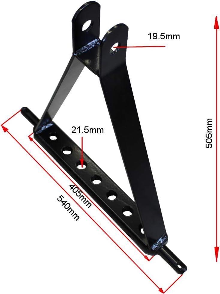 Ackerschiene Dreipunktaufhängung Kat.1 Kugelkopf Zugmal Verdrehsicherung 510mm