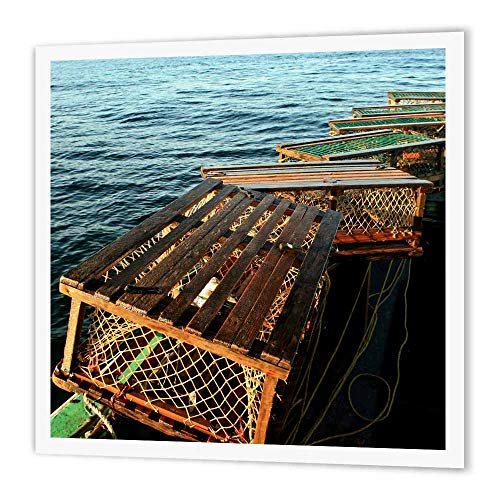 3dRose ht_72046_3 Nova Scotia, Cape Breton, Lobster Traps, Fishing Patrick J. Wall, Iron on Heat Transfer for White Material, 10 by 10-Inch