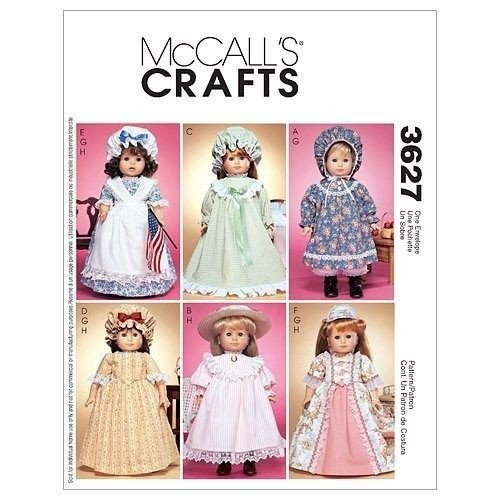 DistiKem(TM) McCall's Patterns M3627 18-Inch Doll Clothes, One Size Only
