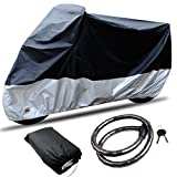 CARSUN All Season Two-colour Design Outdoor/Indoor Waterproof Motorcycle/Bike Cover, with Lock (SIZE 1-86.6