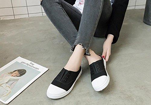 40 Sneaker Chausson Textile Bas Pour Minimalisme Rojeam De Chaussures Femmes Sport Noir Casual 36 SPF1qwfp