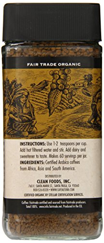 Cafe Altura Freeze Dried Instant Organic Coffee, 3.53 Ounce (Pack of 2)