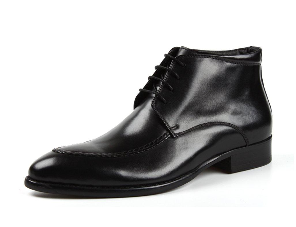 Zapatos Clásicos de Piel para Hombre Zapatos de Cuero para Hombres Ropa Formal Zapatillas Altas de Estilo Británico Martin Boots (Color : Negro, Tamaño : EU44/UK8.5) EU44/UK8.5 Negro