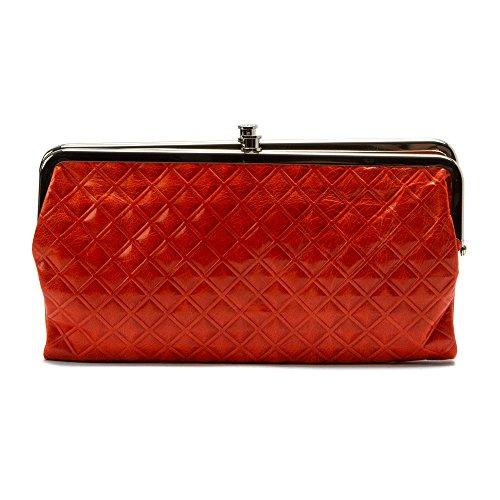 Hobo Womens Genuine Leather Vintage Lauren Clutch Wallet (Grenadine Diamond)