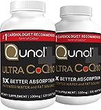 #6: Qunol Ultra 100 mg Coq10 3x Better Absorption Coenzyme Antioxidant Softgels, 240 Count