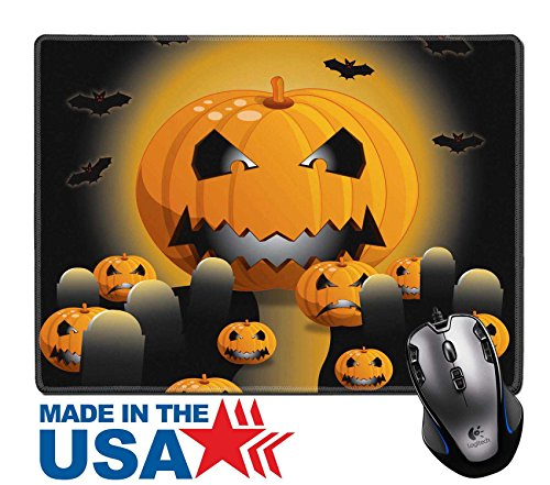 """MSD Natural Rubber Mouse Pad/Mat with Stitched Edges 9.8"""" x 7.9"""" IMAGE ID 31544729 Colorful Halloween illustration for parties and (Ideas For Halloween Party Flyers)"""
