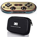 Geek Theory 8Bitdo F30 Pro Controller Bundle - Includes Bonus Carrying Case - Android/Mac/PC/Switch