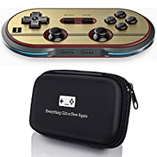 8Bitdo F30 Pro Controller with Bonus Carrying Case for iOS/Android/Mac/PC