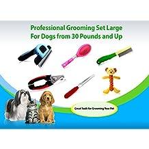 My Pet Boutique Pet Grooming Tools-dog deshedding tool, nail clipper, rasp, flea comb and more … (Large)