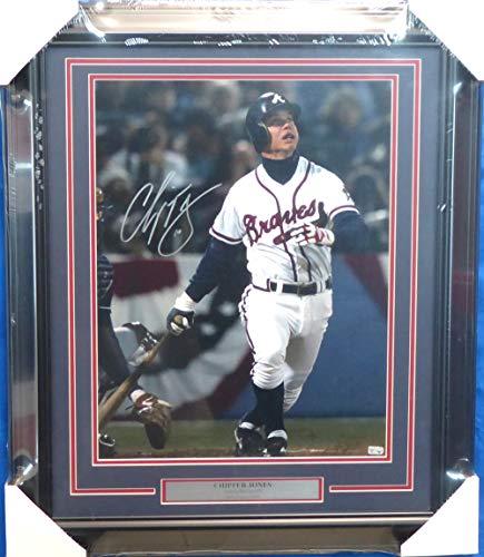 Chipper Jones Autographed Signed Framed 16x20 Photo Atlanta Braves MLB Holo #EK382484