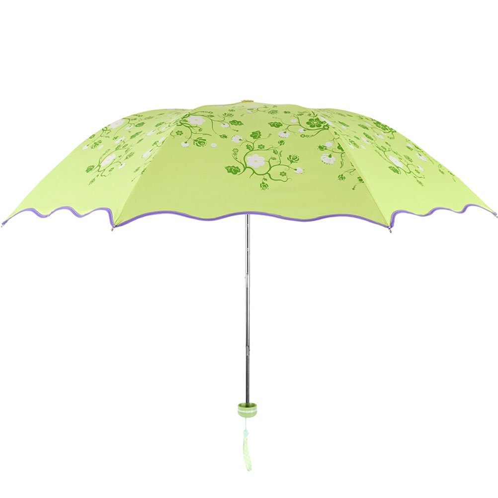 ZI LIN SHOP- Water Is Now Spent Black Plastic Ultra Light Sun Umbrella Clear Umbrella rug ( Color : Green )
