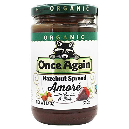Once Again - Organic Amore Hazelnut Spread with Cocoa & Milk - 12 oz.