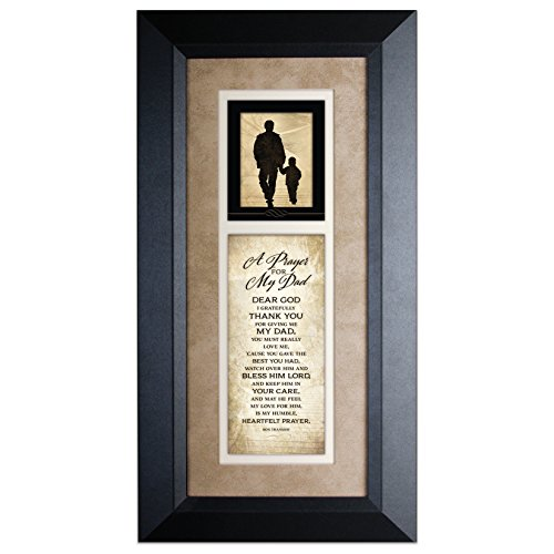 James Lawrence A Prayer for My Dad Wood Wall Art Frame Plaque | 8 inches x 16 inches | Hanger for Hanging | Dear God I Gratefully Thank You for Giving me My dad | Father Prayer by Dexsa (Best Gift For My Dad)