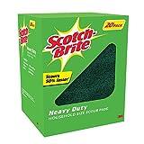 """Scotch Brite 3M Heavy Duty Scouring Pads 6""""X 9"""" Heavy Duty Scouring Power Of Scotch-Brite (20 Pack)"""
