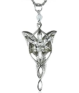 Amazon lord of the rings green leaf elven pin brooch pendant lord of the rings evenstar pendent necklace silver m by preciastore aloadofball Image collections