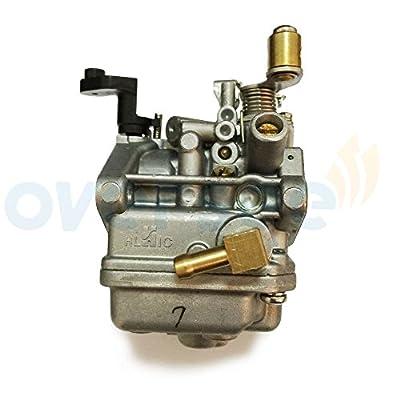 OVERSEE 6BV-14301-11 10 21 Outboard Carburetor For Yamaha Outboard Motor 4HP 5HP 4 stroke Latest Model Powertec Outboard Engines, Boat Motor Carburetor Assy, Replacement Carburetor Aftermarket Parts