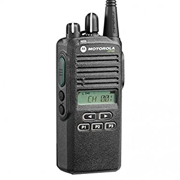 CP185 UHF AAH03RDF8AA7AN Original Motorola 435-480 MHz Handheld Two-way Radio Transceiver 4 Watts, 16 Channels Black – 2 Year Manufacturer Warranty