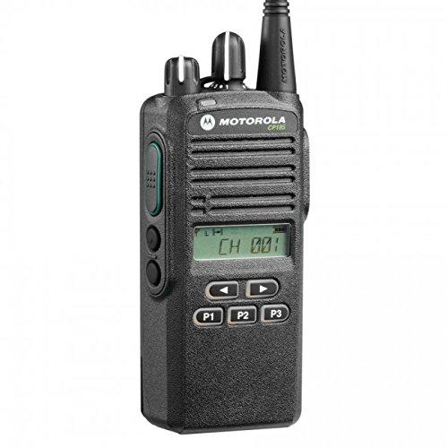 CP185 UHF AAH03RDF8AA7AN Original Motorola 435-480 MHz Handheld Two-way Radio Transceiver 4 Watts, 16 Channels Black – 2 Year Manufacturer Warranty