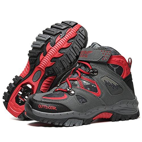 Kids Hiking Shoes Walking Snow Boots Antiskid Steel Buckle Sole Winter Outdoor Climbing Cotton Sneaker by littleplum (Image #2)